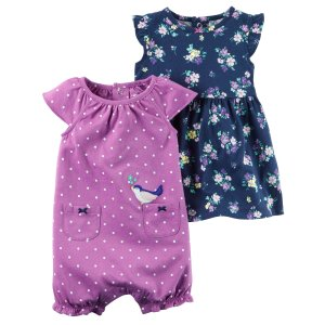 Carter's Newborn & Infant Girls' Romper & Dress - Polka Dot & Floral - Sears