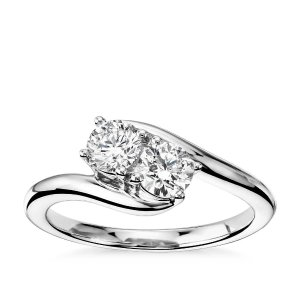 Two-Stone Solitaire Diamond Ring in 14k White Gold (3/4 ct. tw.) | Blue Nile