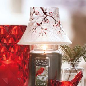 Winter Cardinal Jar Candle Shades - Yankee Candle