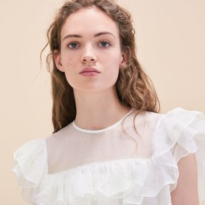 Up to 60% Off + Extra 20% Offthe White Tops of the Spring Collection @ Maje