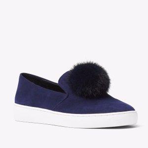 Eddy Pom-pom Suede Slip On Sneaker | Michael Kors