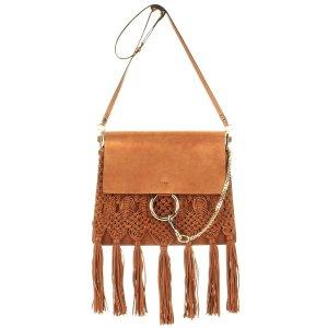 Chloé - Faye fringed leather shoulder bag | mytheresa.com