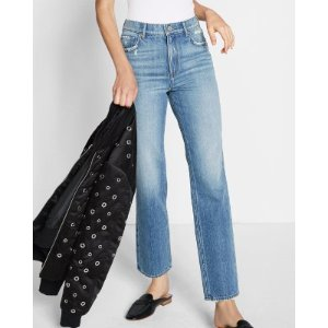 High Waisted Original Straight Ankle Jeans | Express