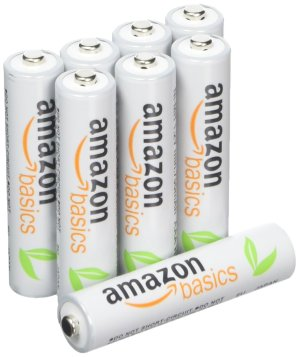 $9.99AmazonBasics AAA 高容量充电电池 (8只) 已预充电