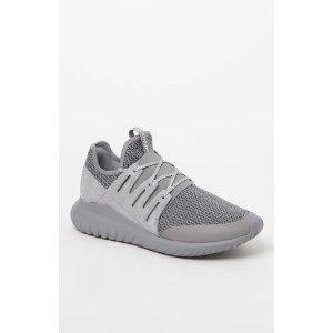 adidas Tubular Radial Melange Grey and White Shoes at PacSun.com