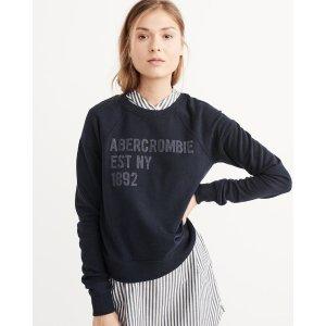 Womens Logo Graphic Sweatshirt上衣