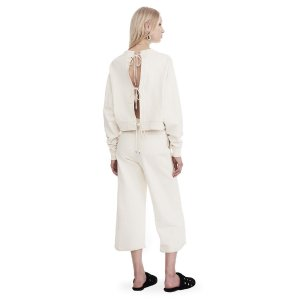 DRY FRENCH TERRY LONG SLEEVE TIE-BACK JUMPSUIT