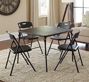 $49.87 史低价Cosco 折叠餐桌椅五件套 黑色