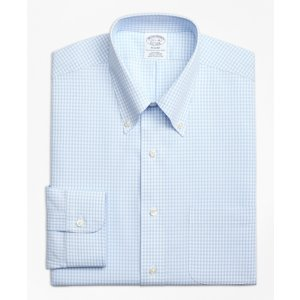 Non-Iron Regent Fit Dobby Gingham Dress Shirt - Brooks Brothers