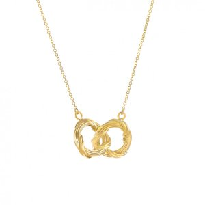 Heritage duo circle necklace in 18K yellow gold