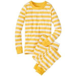 Kids Long John Pajamas In Organic Cotton | Girls Sleepwear
