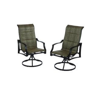 Hampton Bay Statesville Padded Sling Swivel Patio Dining Chair (2-Pack)-FCS70357S - The Home Depot