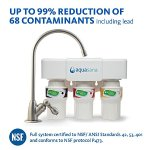 Aquasana AQ-5300.55 3-Stage Under Sink Water Filter System with Brushed Nickel Faucet