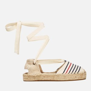 Soludos Women's Gladiator Stripe Espadrille Sandals - Red/Navy/Natural - FREE UK Delivery