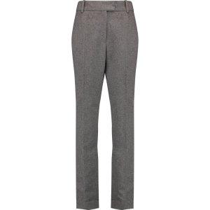 Flannel slim-leg pants | Maje