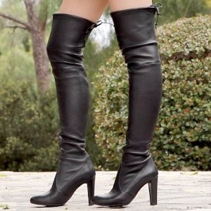 From $449.99(Org. $875)Stuart Weitzman Highland Leather Over-The-Knee Boots @ Saks Off 5th