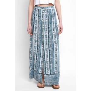 Patrons of Peace Printed Button Front Maxi Skirt   South Moon Under