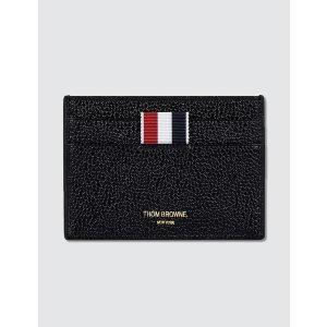 Thom Browne - Pebble Grain Leather Single Card Holder   HBX
