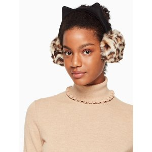 faux leopard earmuff with ears