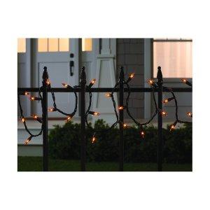 100ct Indoor/Outdoor Halloween Mini String Lights Orange - Hyde and Eek! Boutique™