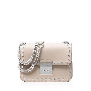 MICHAEL Michael Kors Sloan Editor Chain Stud Medium Leather Shoulder Bag | Bloomingdale's