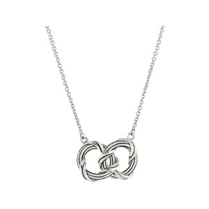 Signature Romance duo circle necklace in sterling silver