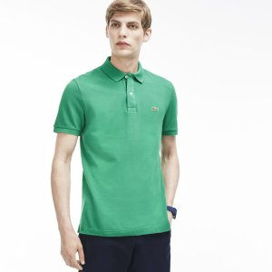Men's Slim Fit Petit Piqué Polo Shirt | LACOSTE