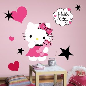 Hello Kitty Couture Peel & Stick Giant Wall Decal - Free Shipping On Orders Over $45 - Overstock.com - 14877905