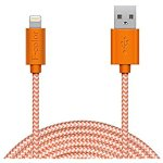 Amazon.com: Lightning Cable, 10Ft Long iPhone 6S Charger, F-color Apple Certified Nylon Braided 8 Pin Lightning to USB Cable for iPhone 6S 6 Plus 5S 5C 5, iPhone SE, iPad 4 Air 2 mini 4 3 2, iPad Pro, Orange: Cell Phones & Accessories