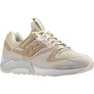 Mens Saucony Grid 9000 Knit Sneaker - Cream - FREE Shipping & Exchanges