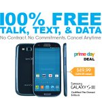 100% Free Talk, Text, & Data + Samsung Galaxy SIII