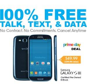 $49.99100% Free Talk, Text, & Data + Samsung Galaxy SIII