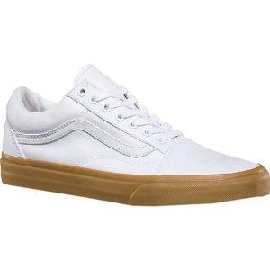 Vans Old Skool Sneaker - (Canvas Gum) True White/Light Gum - FREE Shipping & Exchanges
