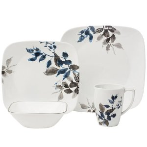 As Low As $28Corelle Boutique Kyoto Night 16-pc. Square Dinnerware Set