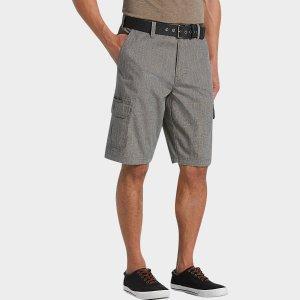 Joseph Abboud Gray Modern Fit Shorts - Men's Shorts | Men's Wearhouse