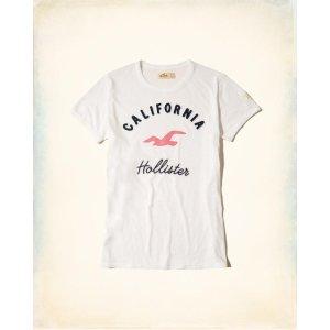 Girls Applique Logo Graphic Tee | Girls Up to 50% Off Summer Sale | HollisterCo.com