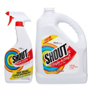 Shout Triple Action Spray with Gallon Refill, 22 Oz   Jet.com