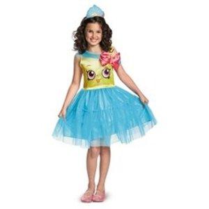 Girls' Shopkins Cupcake Queen Classic Costume - M (7-8)