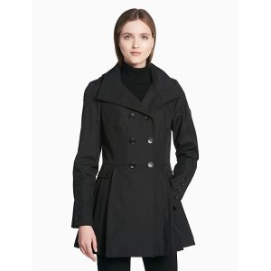double breasted hooded raincoat | Calvin Klein