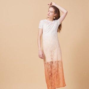RALUX Long tie-dye lace dress