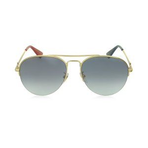 Gucci 						GG0107S Metal Aviator Men's Sunglasses