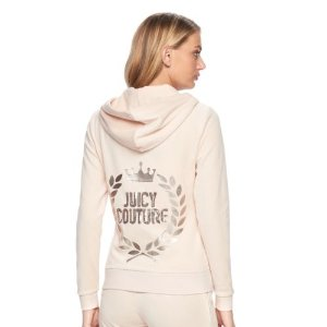 Women's Juicy Couture Embellished Velour Hoodie Jacket