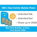 Unlimited Talk, Text, and Shared 4GB plan + Pick your number of lines
