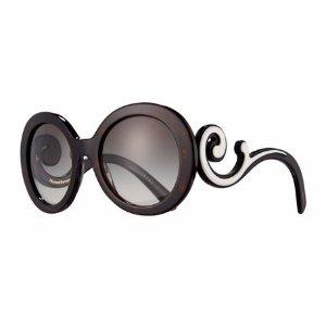 Prada Gradient Round Scroll Sunglasses
