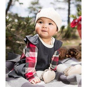 Baby Organic Cotton Star Bright Dress and Bodysuit Set