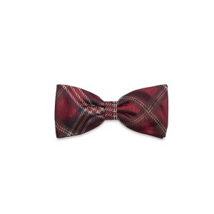 Boys' Burgundy Tartan Plaid Pre-Tied Bow Tie | Brooks Brothers