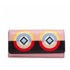 Fendi - Crayons Studded Leather Continental Wallet - saks.com