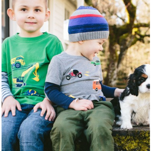 Boys Double Dare Tee In Supersoft Jersey from Hanna Andersson