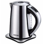 Aicok Stainless Steel Cordless Electric Water Kettle with 6 Preset Temperature Settings - 1.7 Liters