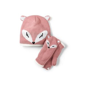 Kids Cozy Critter Hat and Mitten Set from Lands' End